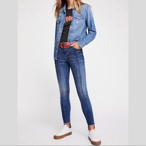 Free People pintuck skinny jeans